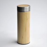 Thermosflasche Isolierkanne Bambus 350ml