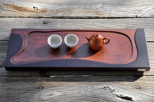 Teetisch 59cm / Teeboot / Teebrett aus massivem Holz