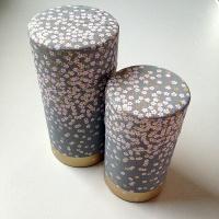 Kleine Teedose in japanischem Seidenpapier, 100g, grau