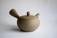 Teekanne 400ml sandfarben grau Kyusu Tokoname Morimasa
