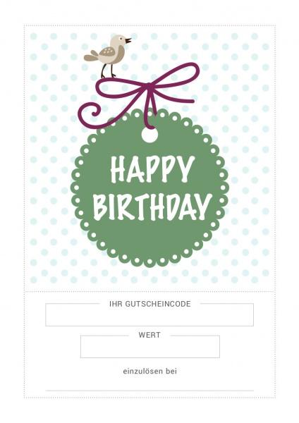 Geschenkgutschein Geburtstag
