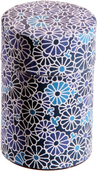 Teedose in japanischem Seidenpapier, 100g, dunkelblau