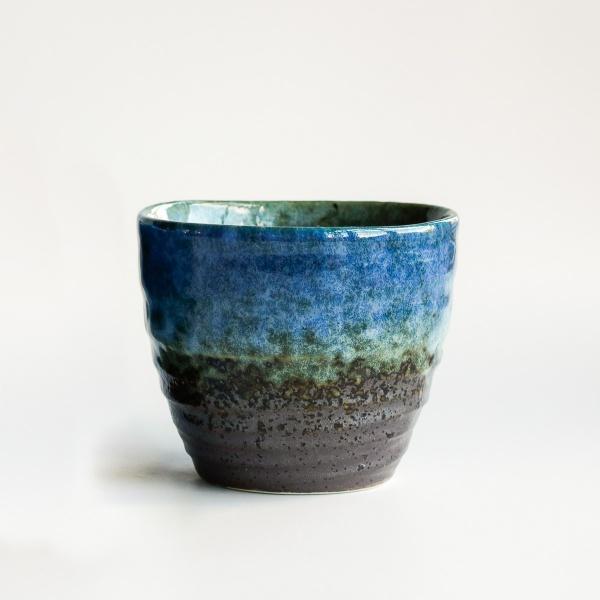 Japan Teebecher HIKO blau-braun 280ml
