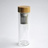 Teeflasche Teeglas mit Bambusdeckel 380ml