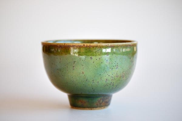 Große Teeschale grün 400ml von Franziska Köllner