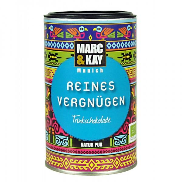 Bio Trinkschokolade Reines Vergnügen, von Marc & Kay