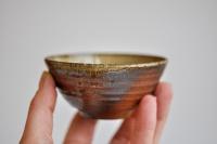 Teeschale Holzbrand dunkel 125ml von Hanka Vrbicova