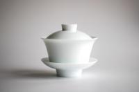 XL Gaiwan 210ml aus weißem Porzellan