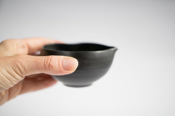 Abkühlschale Yuzamashi anthrazit/schwarz 150ml von Michiko Shida
