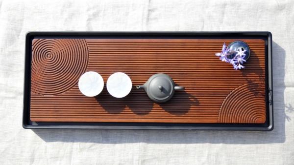 Großer Teetisch 66 cm aus Holz