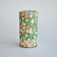 Kleine Teedose in japanischem Seidenpapier, 100g, grün