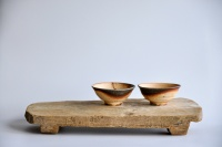 Teebrett 42x20cm - antikes Küchenbrett mit Füßen