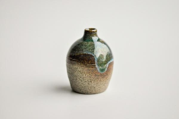 Mini Vase dunkelgrün 5cm von Michiko Shida