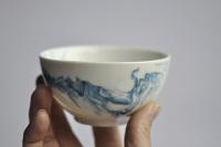 Weiße Teeschale Aqua (200ml) Porzellan