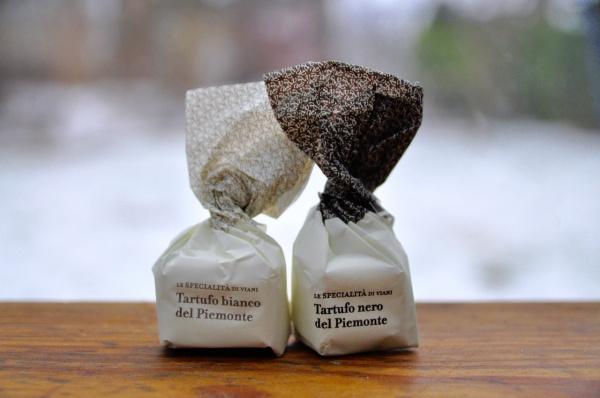 Tartufi dolci neri e bianchi, 10 Stück