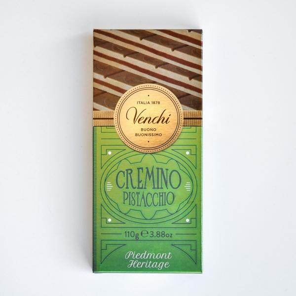 Cremino Pistacchio Schokolade mit Pistaziencreme von Venchi aus Italien