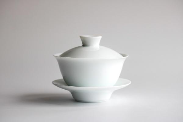 Gaiwan 160ml aus weißem Porzellan