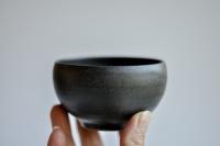 Teeschale 180ml anthrazit/schwarz von Michiko Shida
