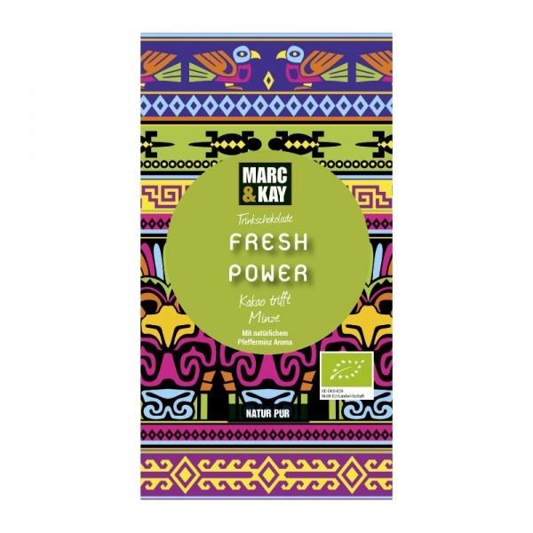 Bio Trinkschokolade Fresh Power, Tassenportion von Marc & Kay