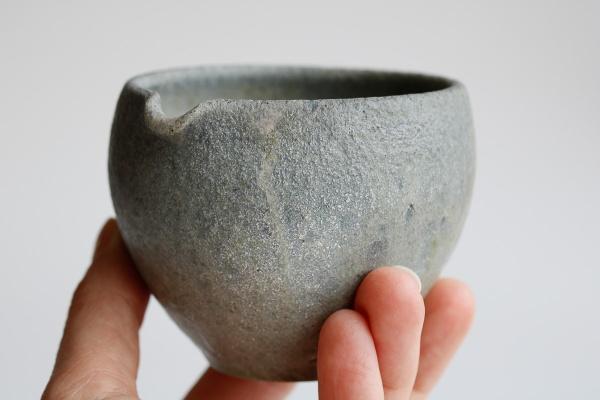 Yuzamashi/Abkühlschale 215ml steingrau von Jan Pavek
