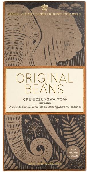 Original Beans, Cru Udzungwa 70% mit Nibs