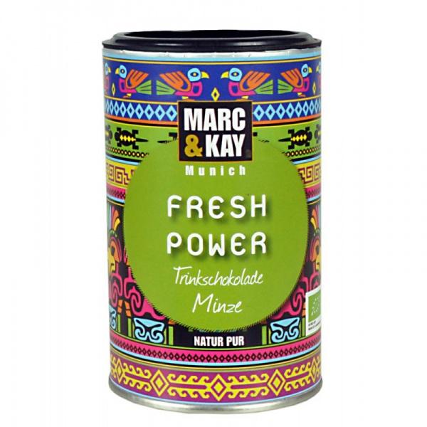 Bio Trinkschokolade Fresh Power, von Marc & Kay