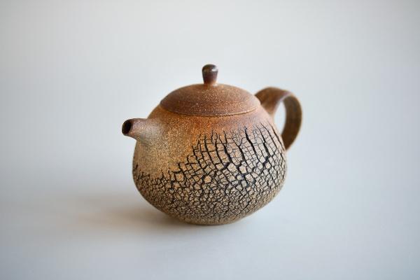 Teekanne Baumrindenoptik 250ml Holzbrand von Jiri Duchek